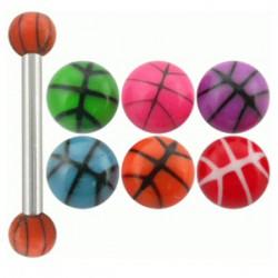 Piercing micro-barbell 17 - UV basket Bolas