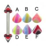 Piercing micro-barbell 21 - UV Picos estriado