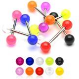Piercing micro-barbell UV unicolor Bolas titanio G23