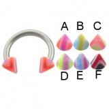 Piercing micro-circular 27 - UV Picos estriado