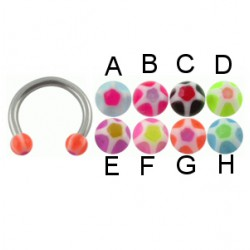 Piercing micro-circular 24 - UV estrella Bolas