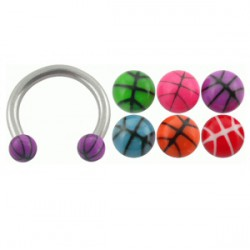 Piercing micro-circular 22 - UV basket Bolas