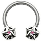 Piercing circular 39 - estrella de David