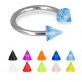 Piercing circular titanio G23 UV unicolor Picos