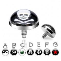Punta microdérmica logos platos 5mm