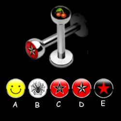 Piercing labret logo serie A