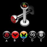 Piercing labret logo serie D