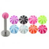 Piercing micro-labret acrílico 04 - UV beach-ball