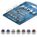Pack de micro-labrets 11 - Bolas strass