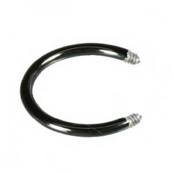 Barra circular 1.2mm PVD negro