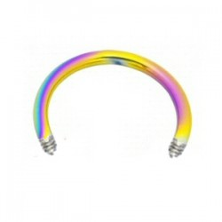 Barra circular 1.2mm PVD rainbow