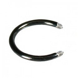 Barra circular 1.6mm PVD negro