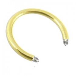 Barra circular 1.6mm chapado-oro