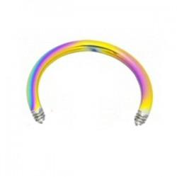 Barra circular 1.6mm PVD rainbow
