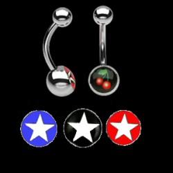 Piercing ombligos logos serie estrella