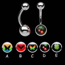 Piercing ombligos logos serie B