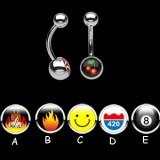 Piercing ombligo logos serie E