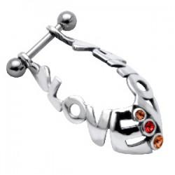 Piercing helix 33 - escudo love
