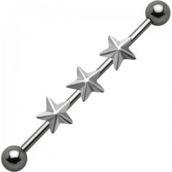 Piercing industrial 46 - tres estrella
