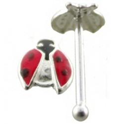 Piercing stud de nariz 0.5mm 16 - mariquita