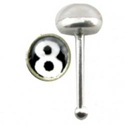 Piercing stud de nariz 0.5mm 22 - Logo 8