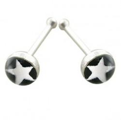 Piercing stud de nariz 0.5mm 32 - Logo estrella