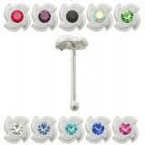 Piercing stud de nariz 0.5mm 35 - Twist flower