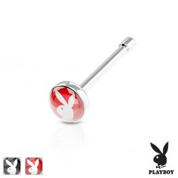 Piercing nariz barra recta 0.8mm 11 - Logo playboy