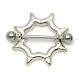Piercing teton círculo con Picos (40)