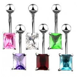 Piercing ombligo cristal 07 - rectángulo