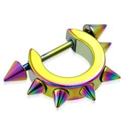 Pezón escudo 07 - Rainbow large cerle con Picos