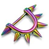 Pezón escudo 08 - Rainbow Picos sobre escudo y varilla