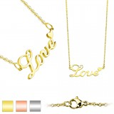 Collier en acero 07 - Love PVD