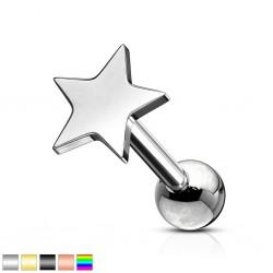 cartílago helix, tragus 391 - PVD estrella