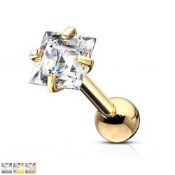 cartílago helix, tragus 396 - Gold-ip zircona cuadrada