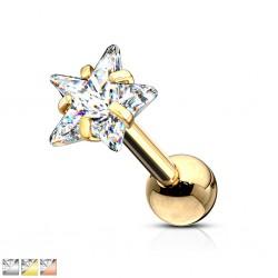 cartílago helix, tragus 397 - Gold-ip zircona estrella
