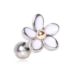 Piercing micro-labret 136 - Flor blanco