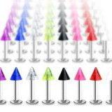 Piercing micro-labret UV unicolor Pico titanio G23