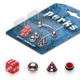 Pack de piercings arcades 10 - puntas rojos