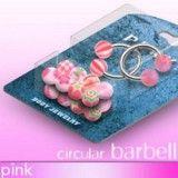 Pack de piercings circulaires 6 - Bolas UV rosas