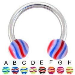 Piercing micro-circular 08 - UV Bolas estriado