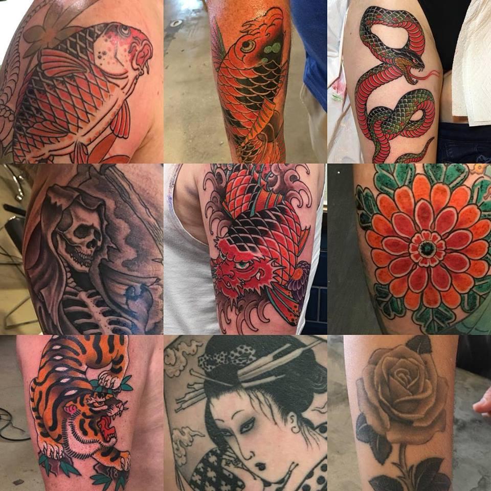 Varios tatuajes realizados por Ami James
